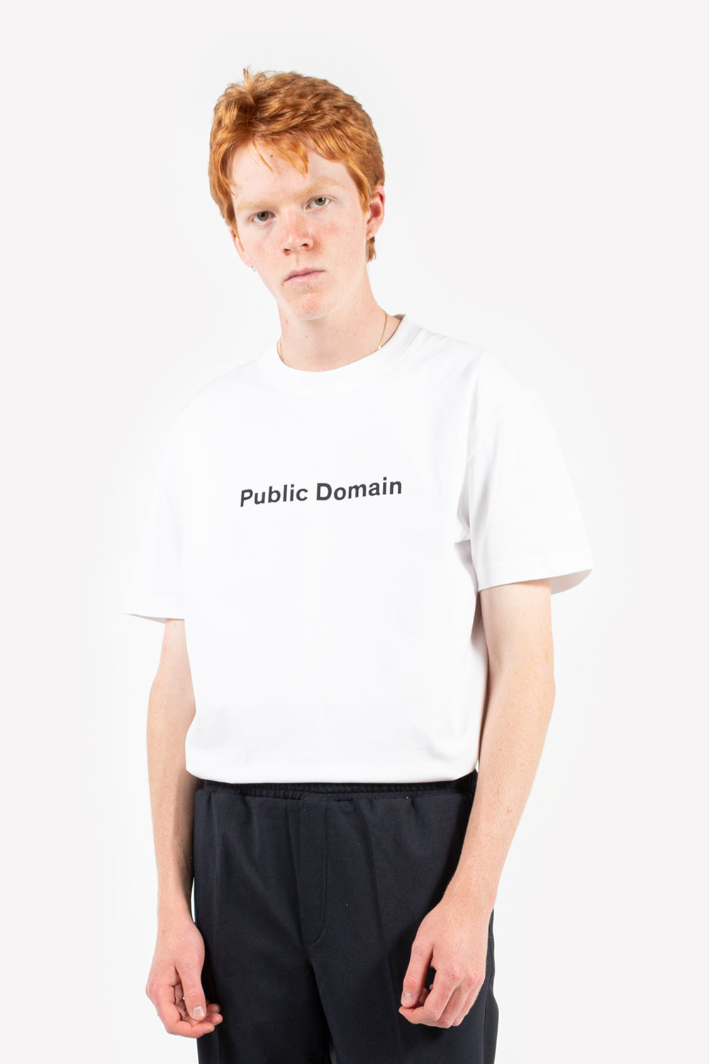 soulland public domain t-shirt in white