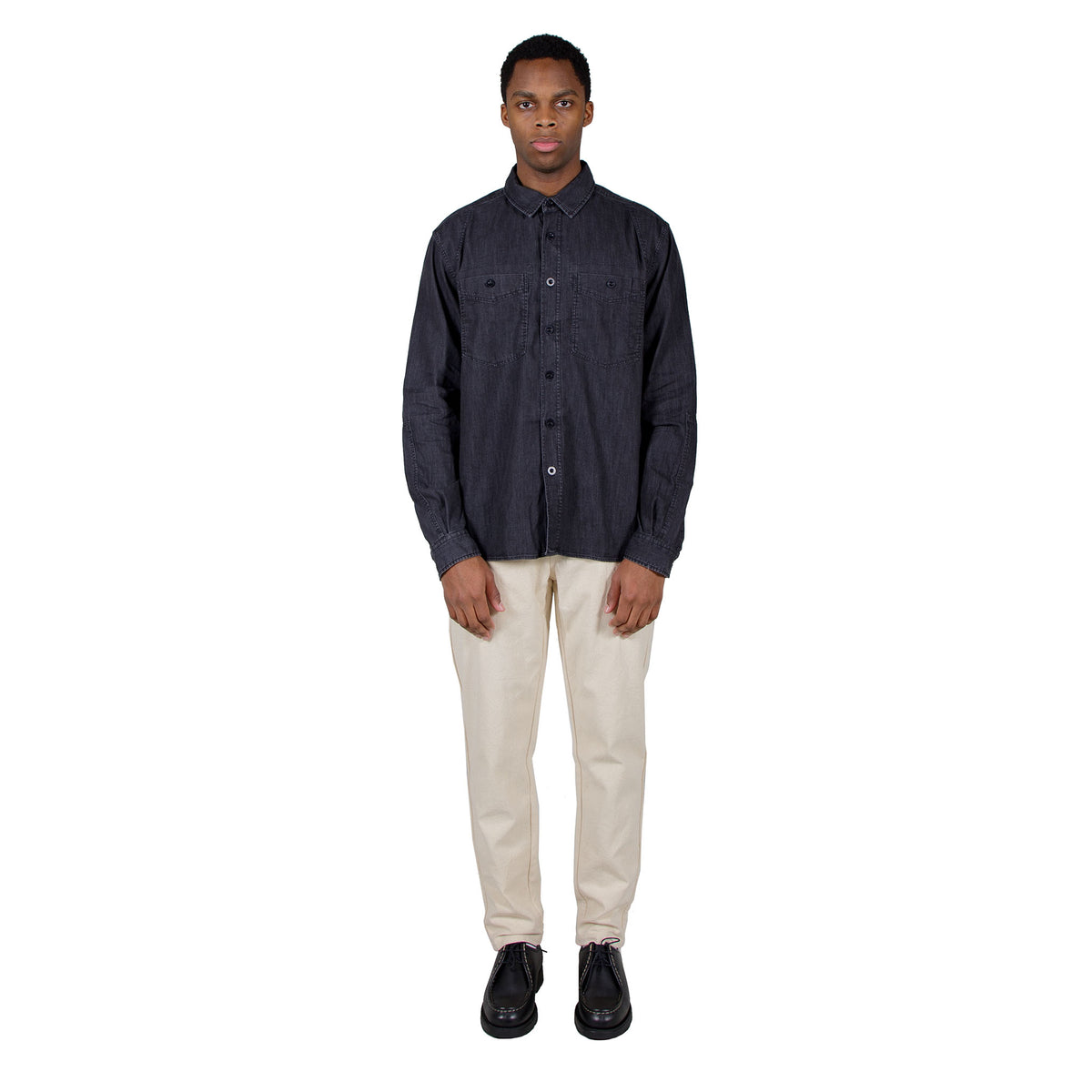 Albam Carpenters Work Shirt in Black