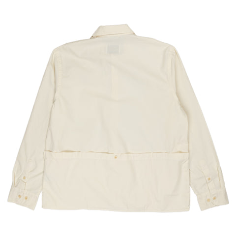 Albam Apron Pocket Gardening Shirt Ecru Back