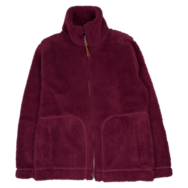 Fleece Zip Through - Raspberry