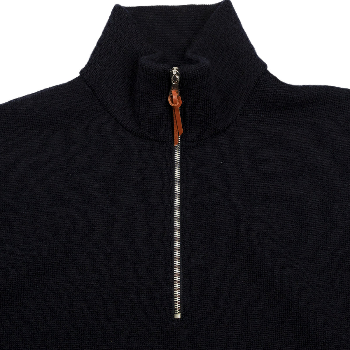 Milano Funnel Neck Pullover with Half Zip - Navy