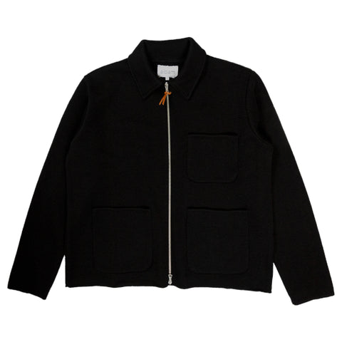 Milano Zip Through Work Jacket - Black