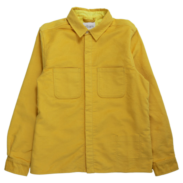 Albam Moleskin Duncan Shirt Overshirt Yellow Button Down