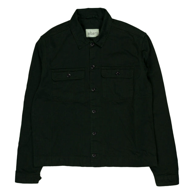 Press Herringbone Shirt - Olive