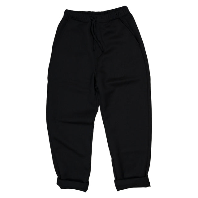 Wool Drawstring Pants - Navy