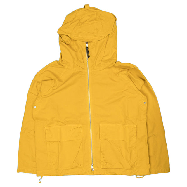 albam zipped hooded parka in rich yellow