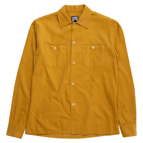 August Fifteenth California Shirt Corduroy Mustard Front