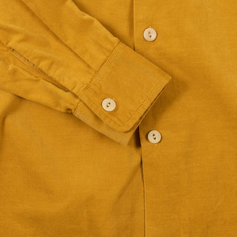 August Fifteenth California Shirt Corduroy Mustard Detail Cuff