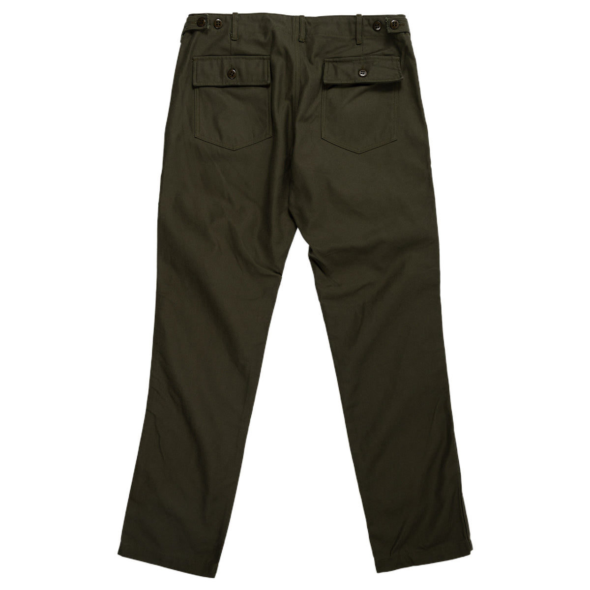 August Fifteenth Fatigue Trousers Back Twill Olive Back