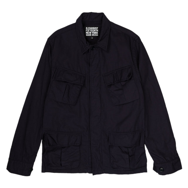 August Fifteenth Ripstop Jungle Jacket in Navy