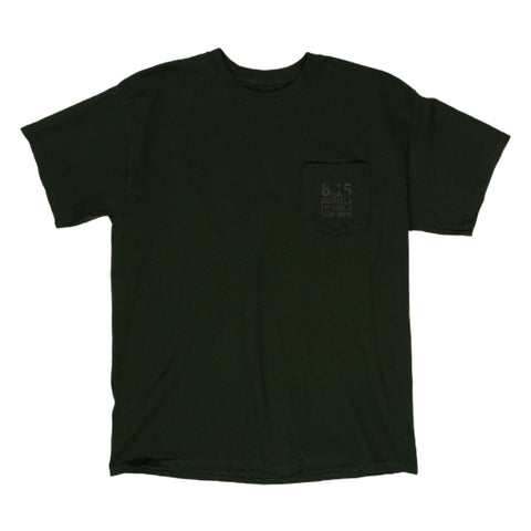 August Fifteenth Logo Pocket Tee in Olive