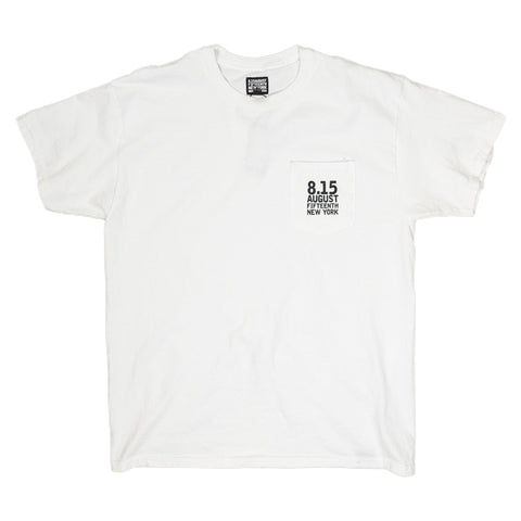 August Fifteenth Logo Pocket Tee in White