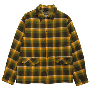 August Fifteenth Vermont Jacket Plaid Green Brown Yellow Front