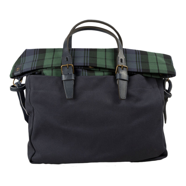 bleu de chauffe business bag remix in tartan