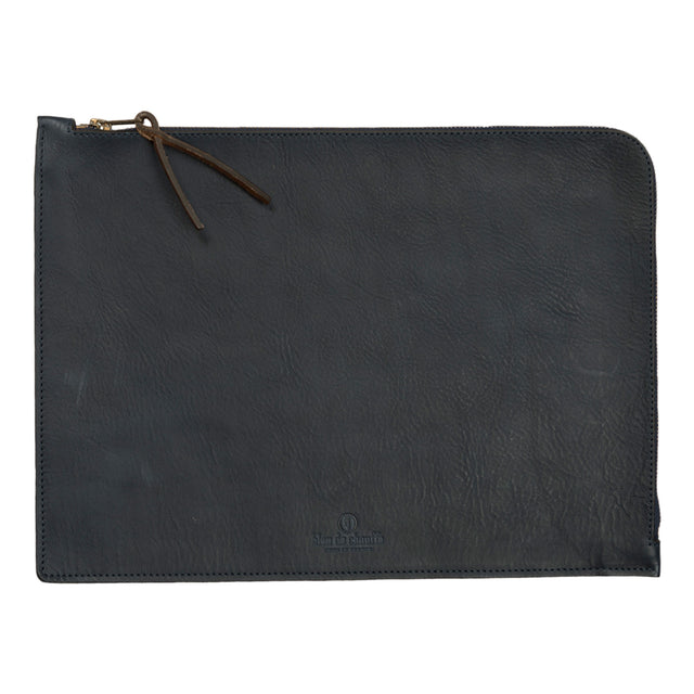 bleu de chauffe jim laptop sleeve in navy blue