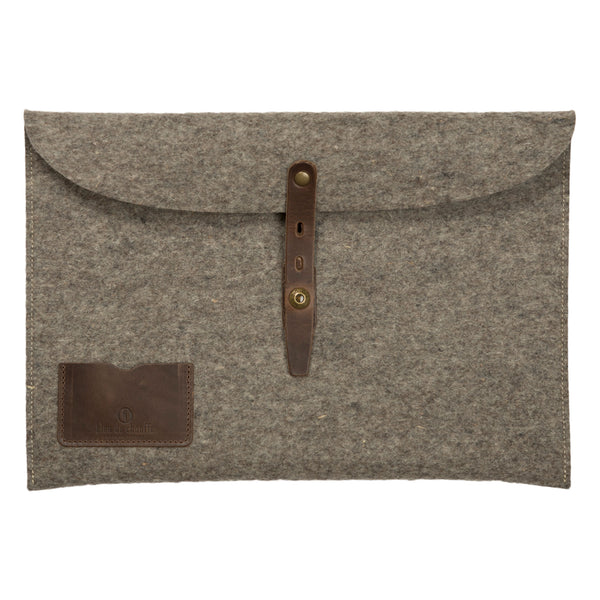 Misha 15 Inch Laptop Sleeve - Natural Felt