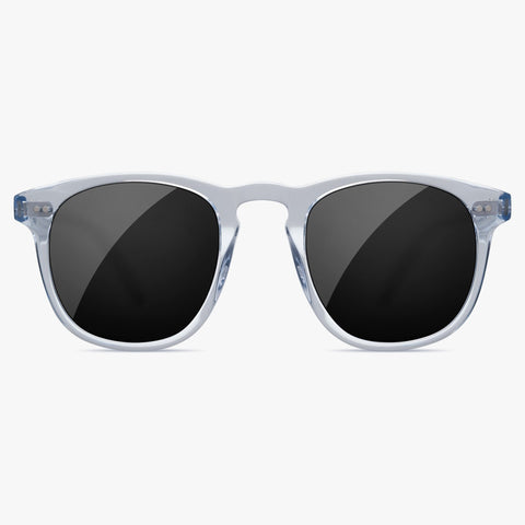 Chimi 001 Litchi Black Eyewear Front Transparent