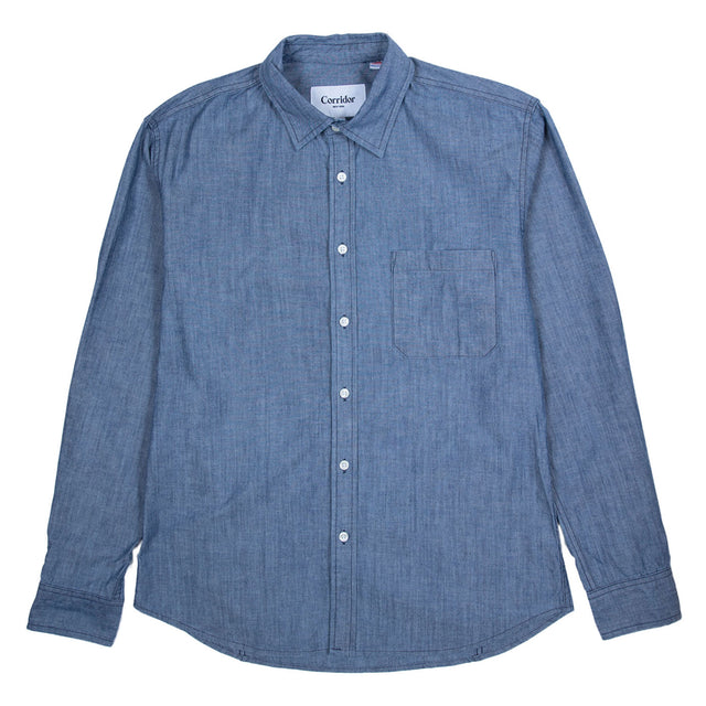 Washed Cone Denim Shirt - Blue