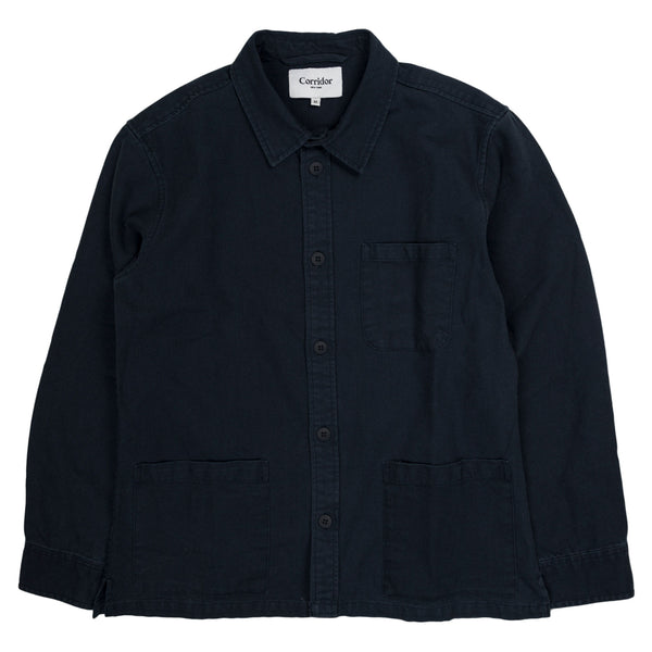 Corridor Water Resistant Duck Dyed Overshirt in Navy