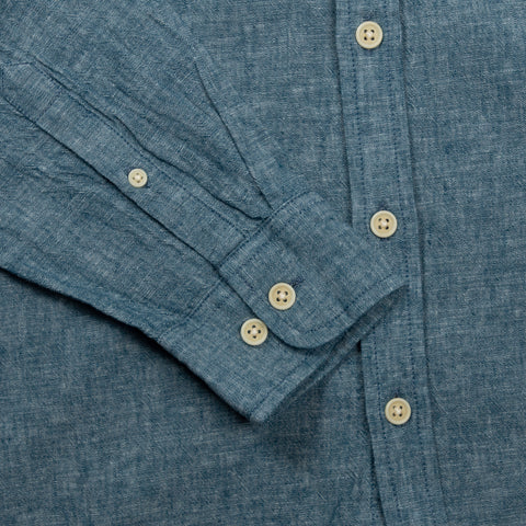 Summer Linen Chambray LS - Blue
