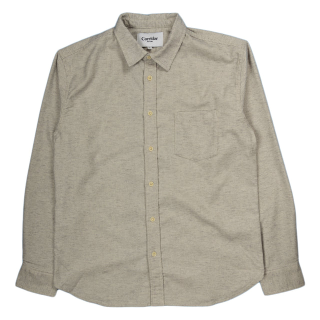 Corridor Variegated Stripe Shirt in Grey