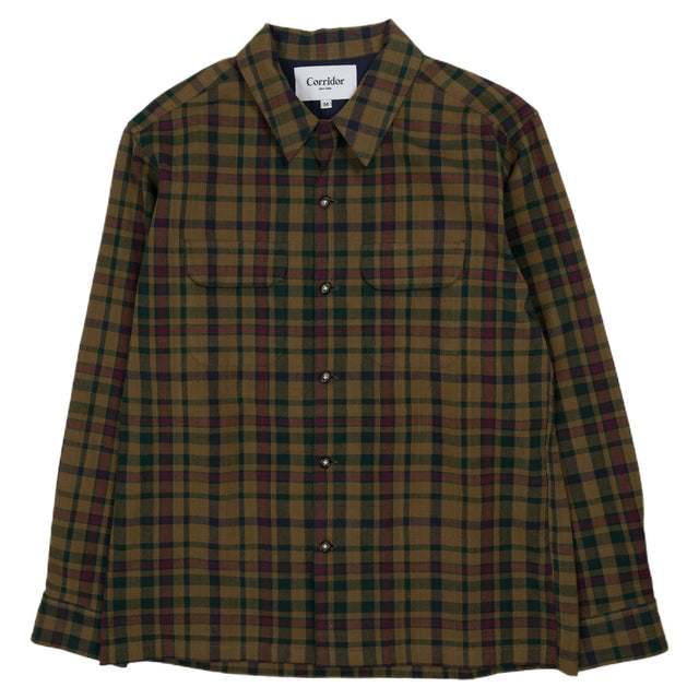 Heritage Plaid Work Shirt - Brown