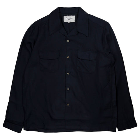 Worsted Wool Workshirt - Navy