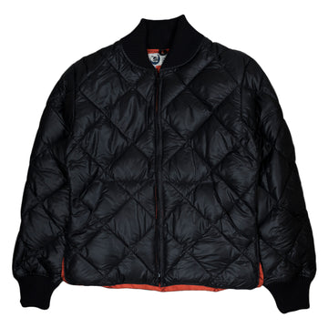 Crescent Down Works Diagonal Quilt Jacket in Black