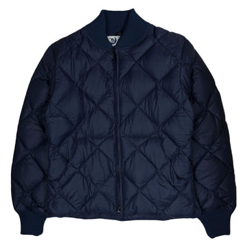 Crescent Down Works Diagonal Quilt Jacket in Navy