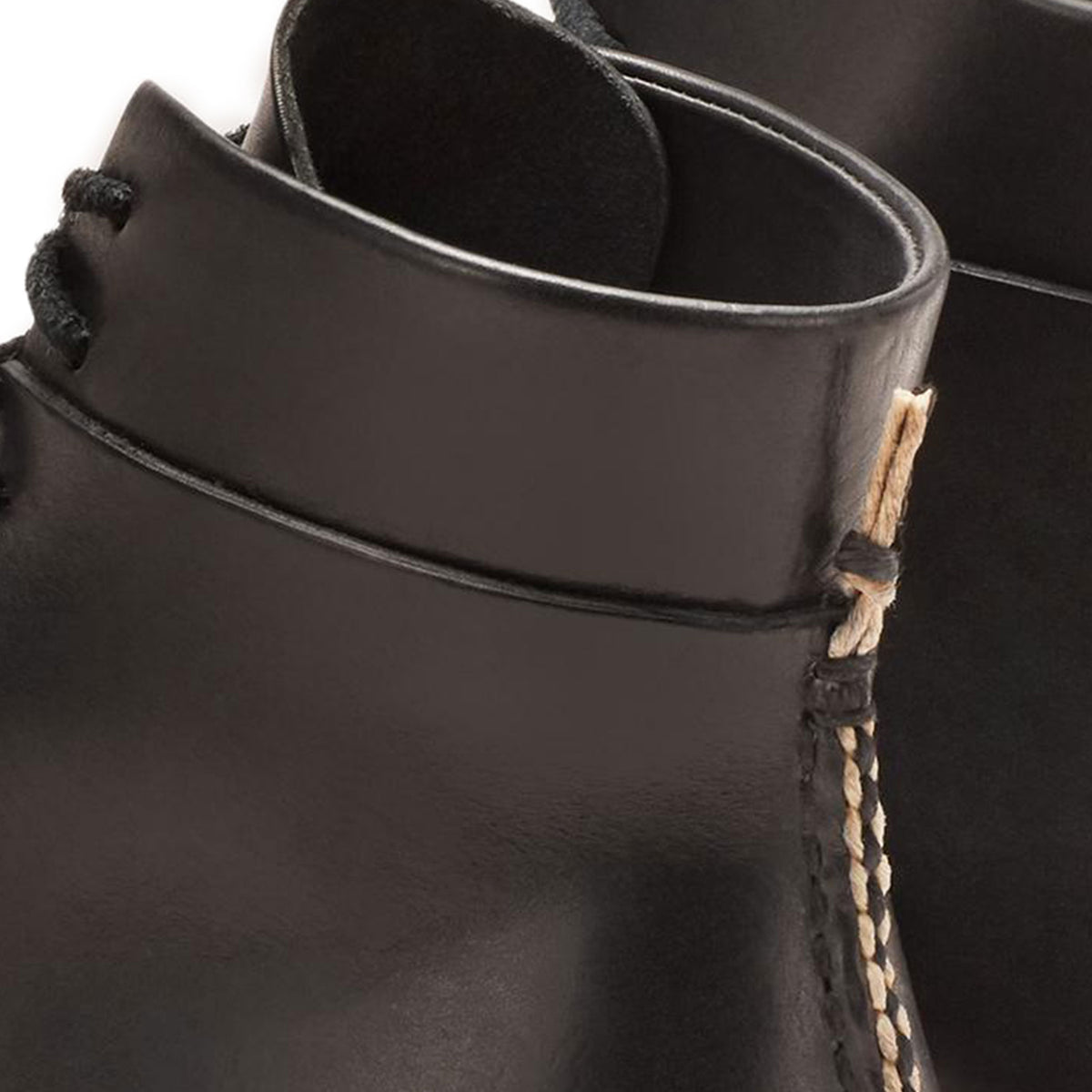 FEIT Braided Lace-Up Boots Shoes Leather Black Detail Braid