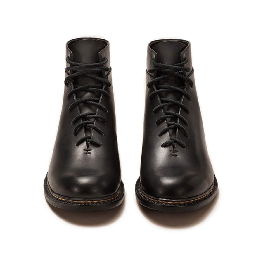 FEIT Braided Lace-Up Boots Footwear Shoes Leather Black Front