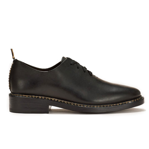 FEIT Braided Oxford Shoe Footwear Leather Black Side