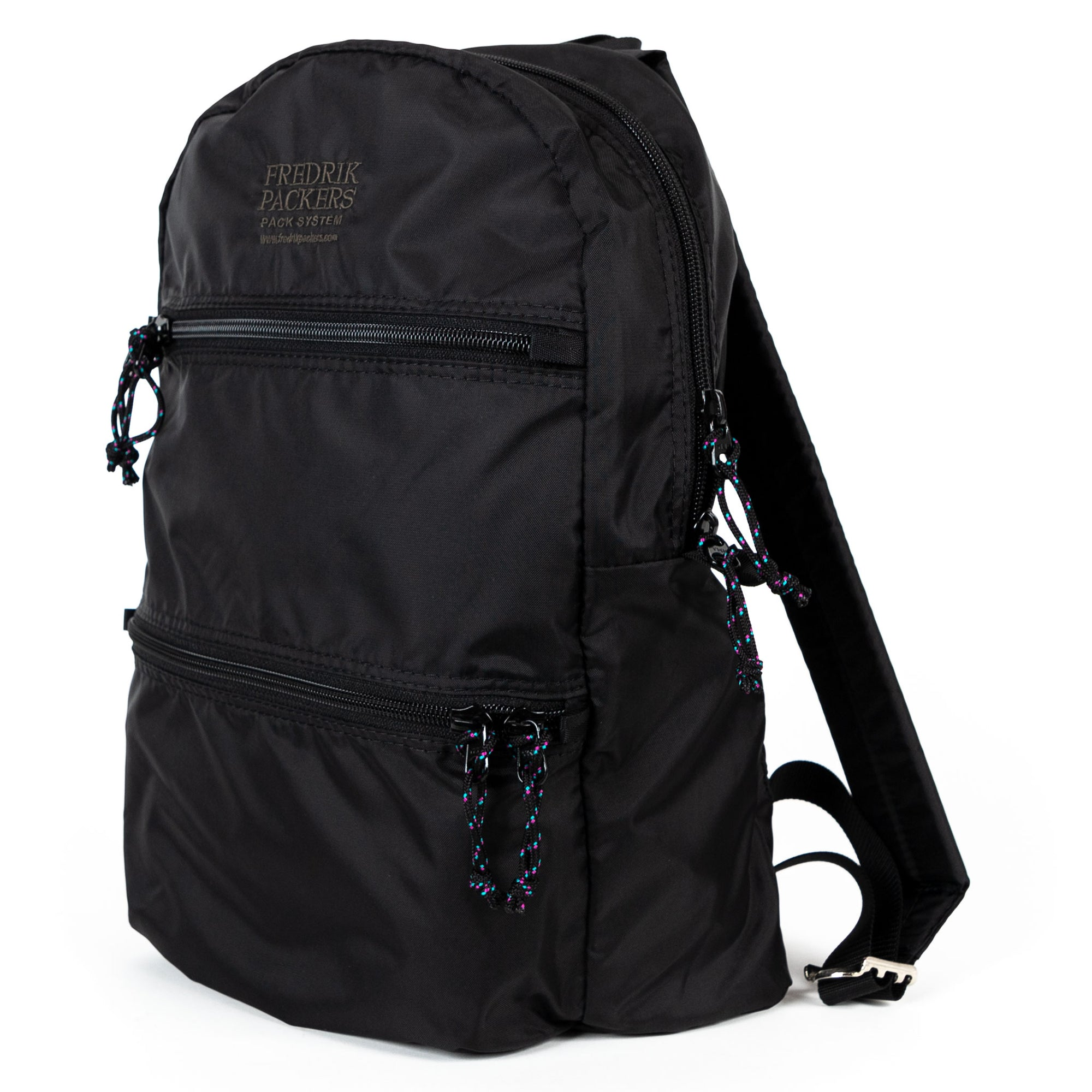 fredrik packers double zip backpack in black