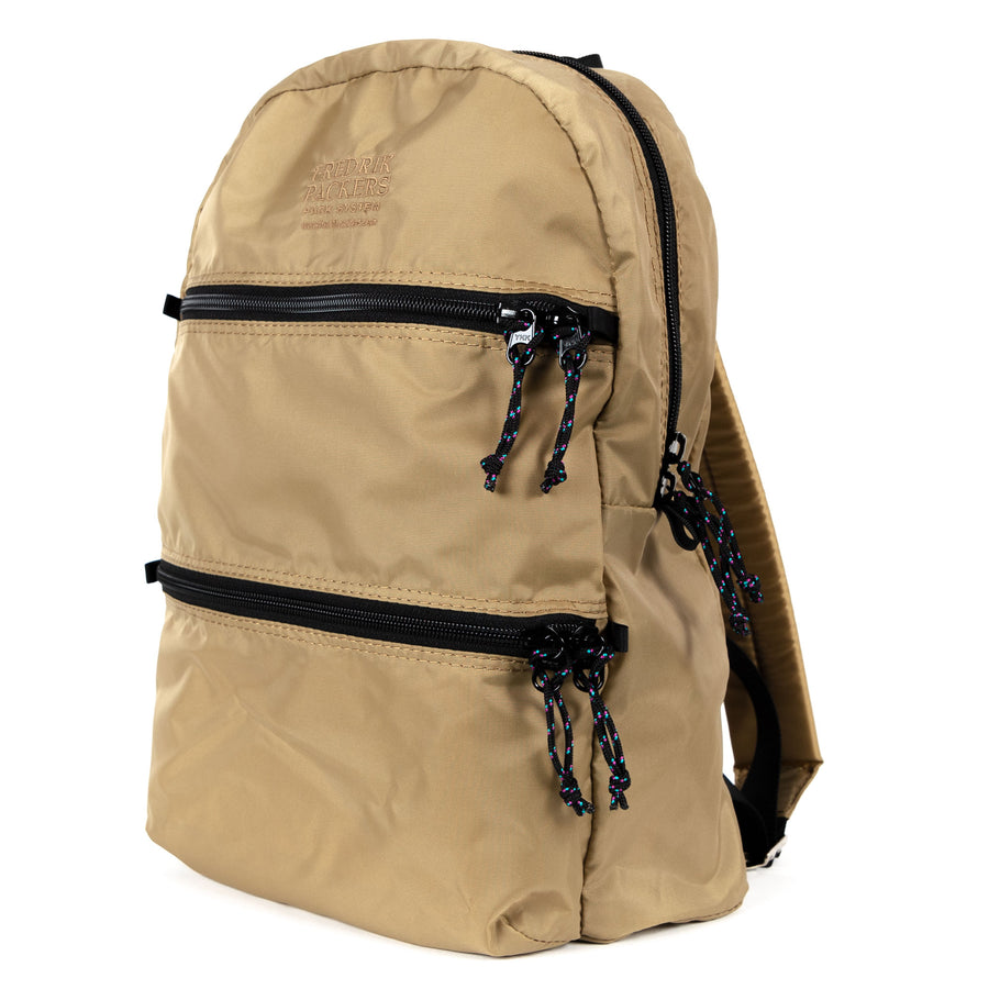 fredrik packers double zip backpack in kahki