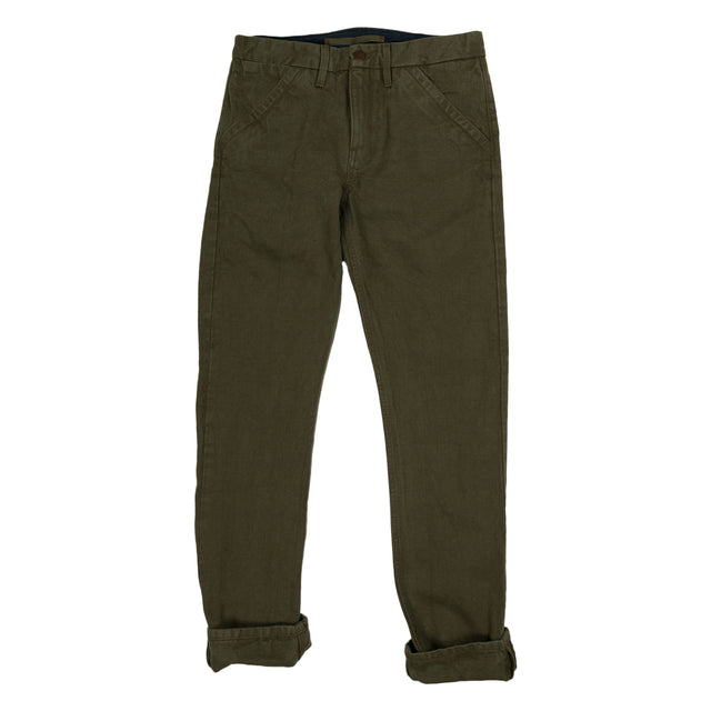 Freenote Cloth Workers Chino Slim Straight in Army Green