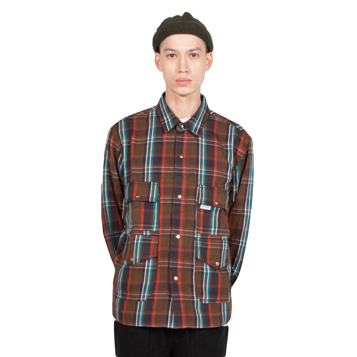 Garbstore Flight Shirt in Brown at Wallace Mercantile Shop
