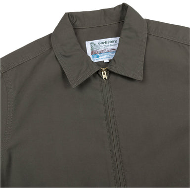 Garbstore Atlas Zip Up Shirt in Khaki