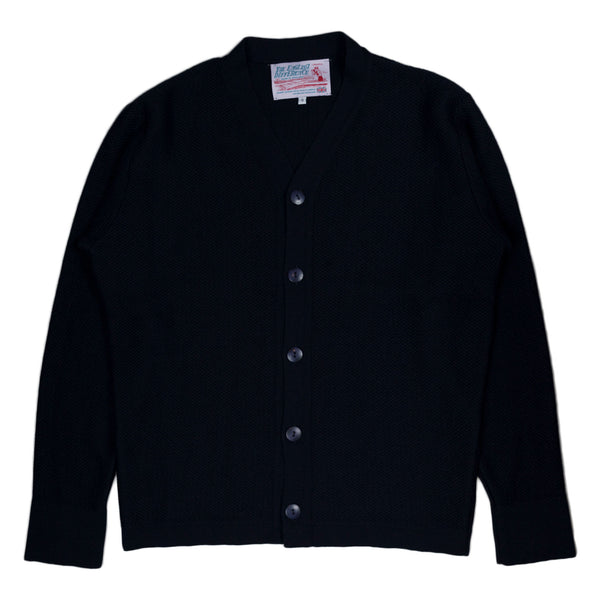 Garbstore The English Difference Reverse Cardigan in Navy