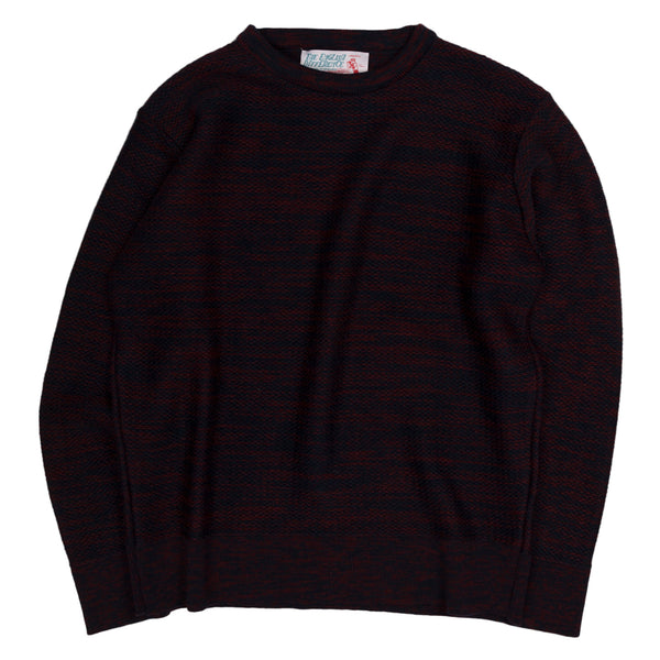 Garbstore The English Difference Crewneck Sweater in Navy and Red