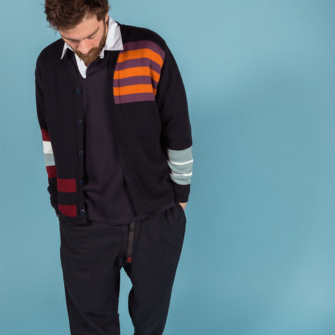 Garbstore TED USA Cardigan in Navy