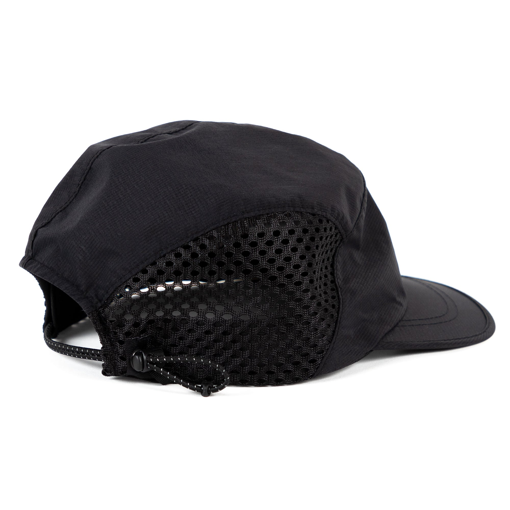 Goldwin short brim mesh cap black
