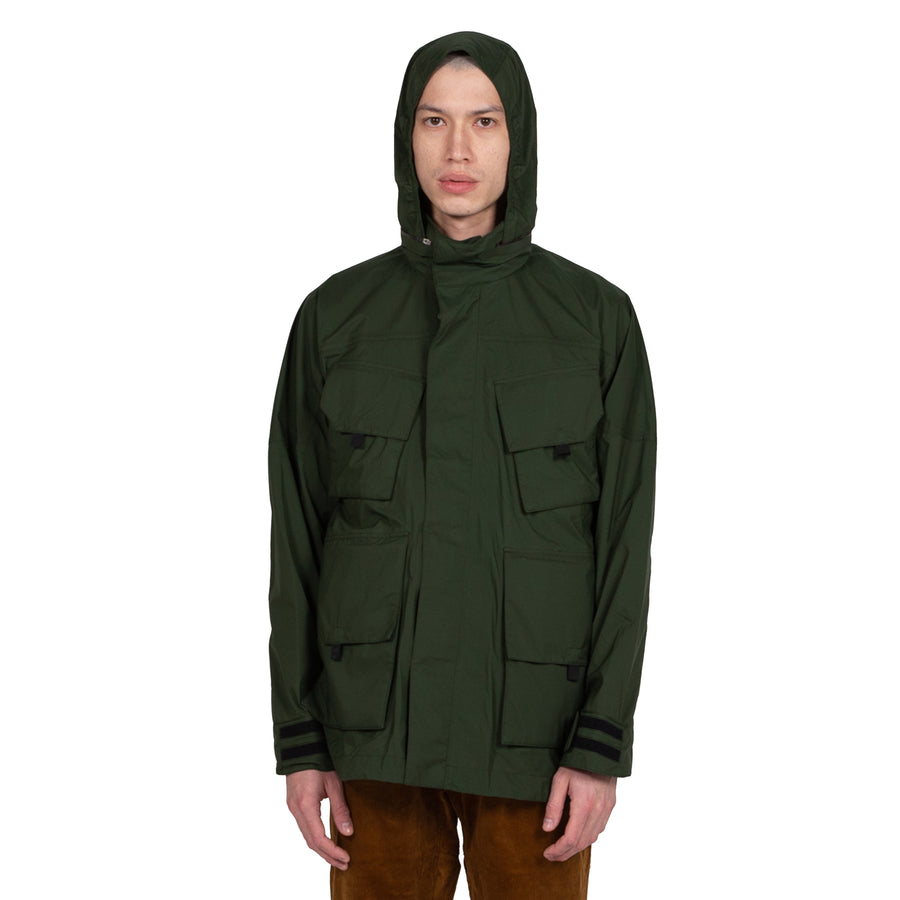 Goldwin Traveler Blouson in Cypress Green Outerwear sportwear hooded hood rain gear all weather