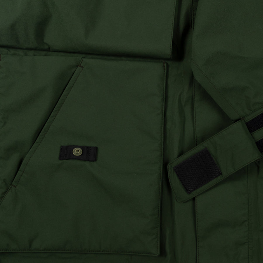 Goldwin Traveler Blouson in Cypress Green Outerwear sportwear hooded hood rain gear all weather pocket