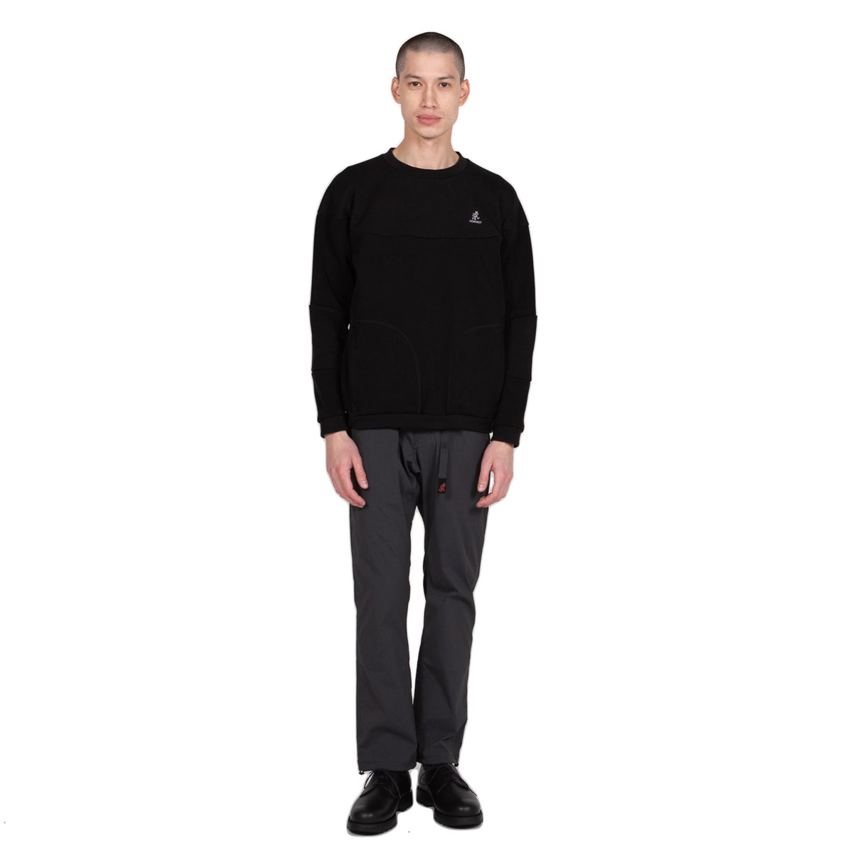 Gramicci Congaree Sweater in Black outer wear sweatshirt