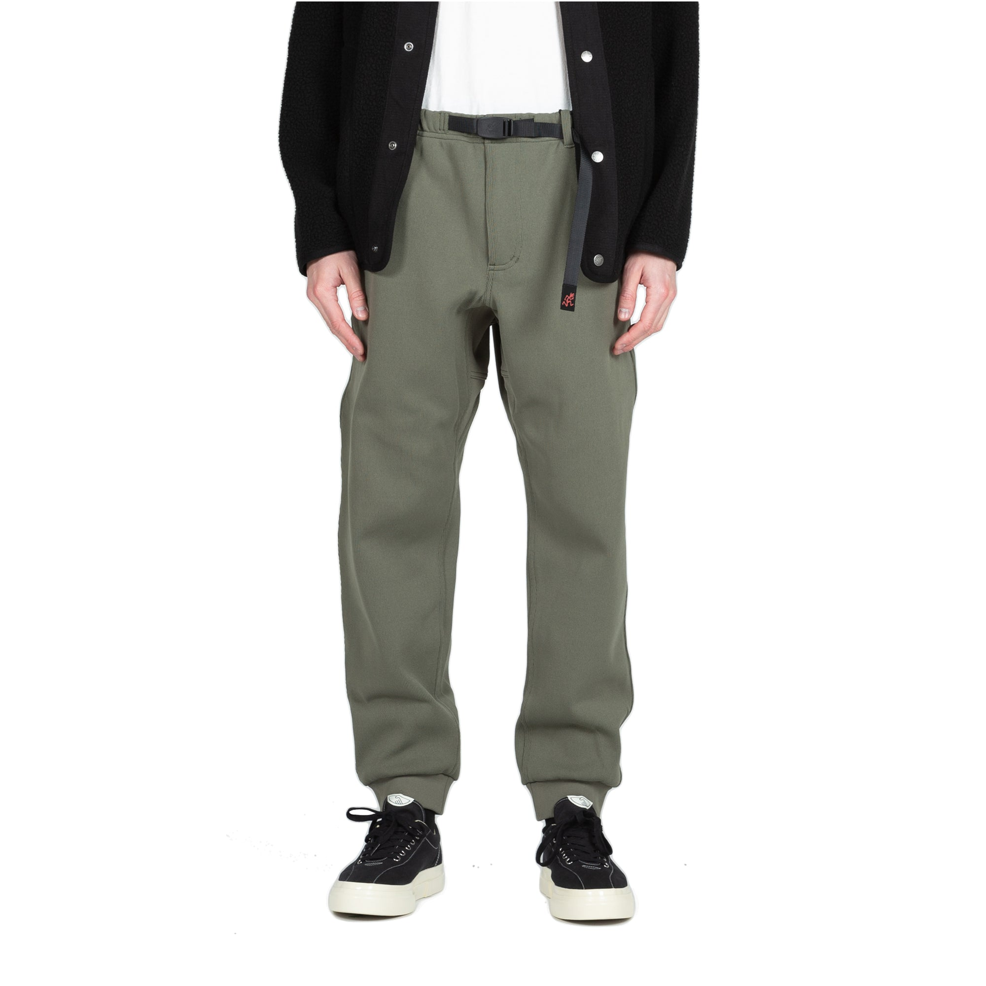 gramicci Lassen Pant olive all weather rain gear front