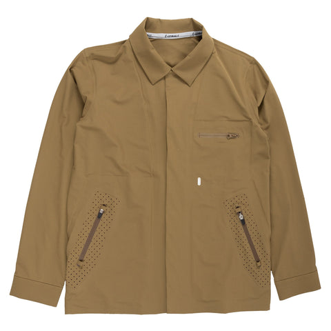 gramicci Acadia Pertex Jacket Coyote olive green outer wear all weather weatherproof front