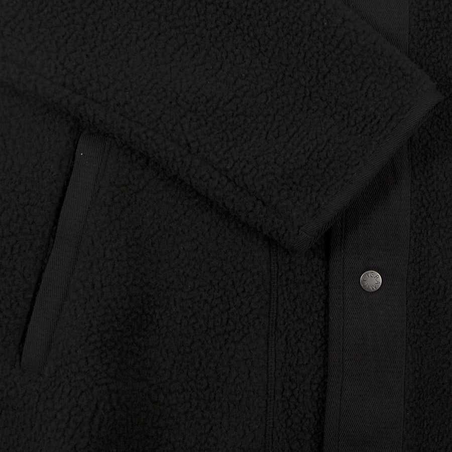 Gramicci Boa Fleece Jacket in Black outer wear warm cuff