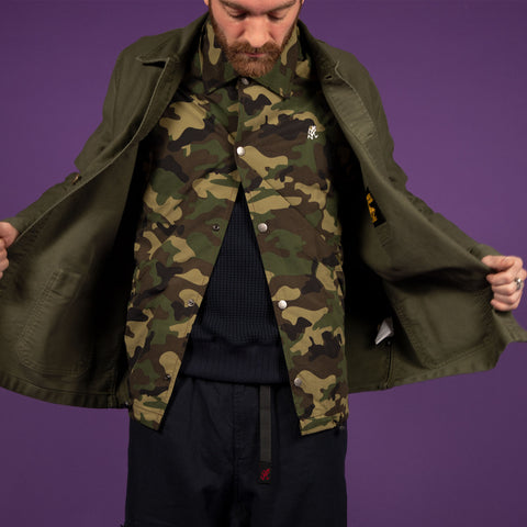 Gramicci Shell Coach Jacket Camo