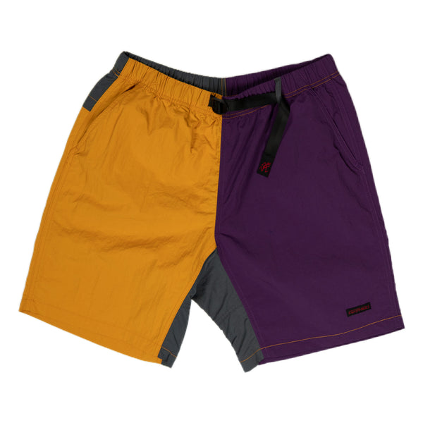 Gramicci Shell Packable Shorts in Mustard and Purple