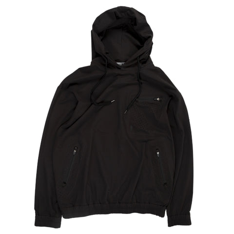 Gramicci Sonora Pertex Hoodie in Black all weather weatherproof outer wear front